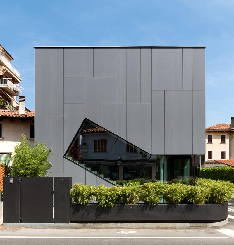 Geventileerde façade Lapitec